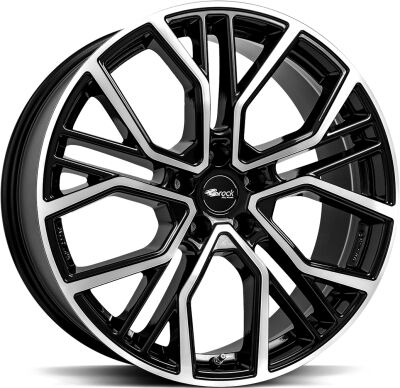 BROCK B41 Black Full Polish alumiinivanne