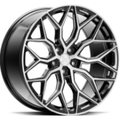Vossen HF2 Brush Gloss Black alumiinivanne