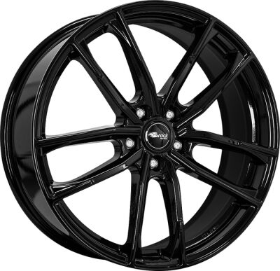 BROCK B38 Shiny Black alumiinivanne