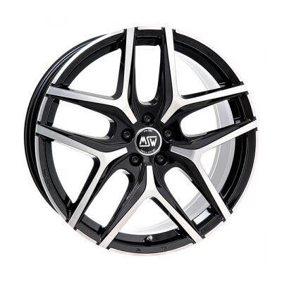 MSW 40 black polished lettmetallfelger