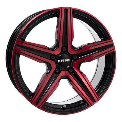 Nitro Spark G.BLK/RED lettmetallfelger