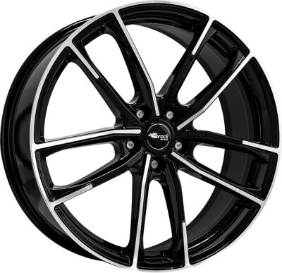 BROCK B38 Black Full Polish alumiinivanne