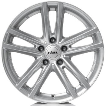 RIAL X10 Polar Silver lättmetallfälg
