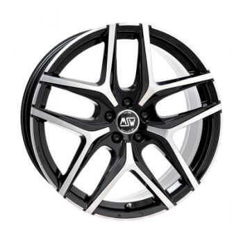 MSW 40 black polished lättmetallfälg