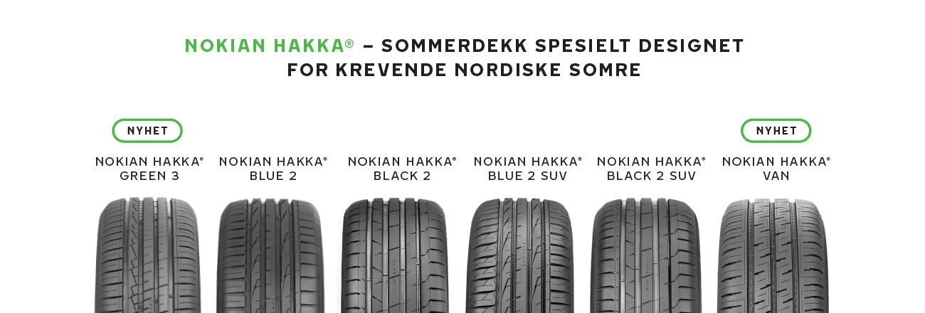 Nokian Hakka sommerdekk I Vianor