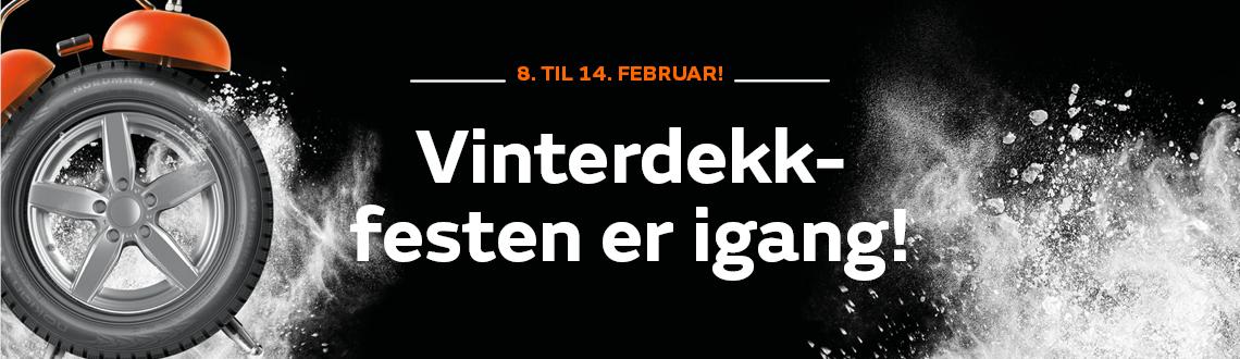 Vinterdekk fest i februar