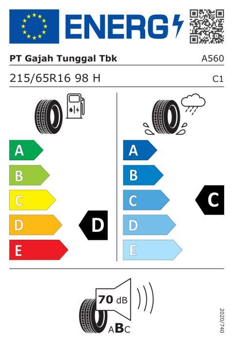 EU-dekkmerking: A560