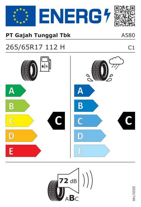 EU-dekkmerking: A580