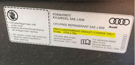 Vilken AC-gas ska användas till min bil?