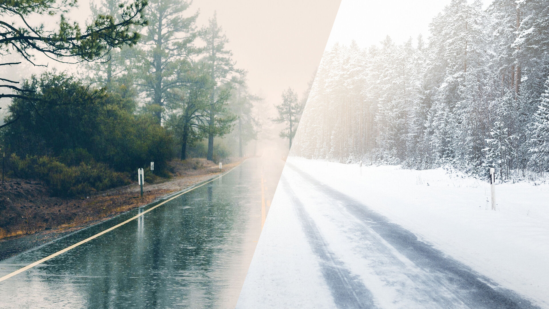 Auto ajamassa laaksossa kulkevaa autotietä pitkin aurinkoisessa säässä